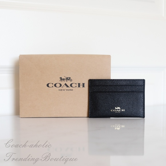 Coach Handbags - NWT Coach F57312 Flat Card Case in Leather